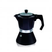 Кубинска кафеварка за 6 чаши ZEPHYR ZP 1173 DI6, Термоизолирана дръжка, Черен