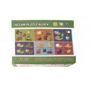 Puzzle Cuburi 6 imagini 12 piese Fructe