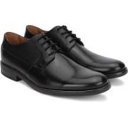 Clarks Becken Plain Black Leather Slip On For Men(Black)