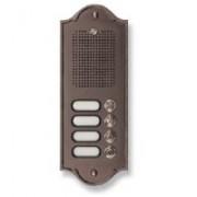> Pulsantiera citofonica 4 pulsanti in ottone testa di moro PLM PERLA
