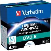 VERBATIM 43821 - DVD-R, 4,7GB, bedruckbar, 5er-Pack (M-DISC)