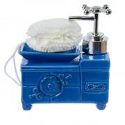 Dispenser detergent in forma de cada albastra