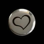 Urn druppel met portretfoto + zilver Hart dopje — 120x120x50mm / 3D] / Nee