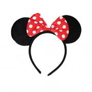 Tako bell Bow head band Minnie Mouse/Mickey Mouse Bow Headband/ Minnie Mouse Ears Headband Hairband Costume Accessory(PACK OF 2 RED )