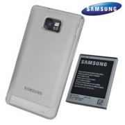 Оригинална подсилена батерия за Samsung i9100 High EB-K1A2EWEG със заден капак бял