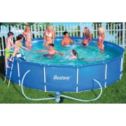 Bestway - 12.6Kl Steel Pro Frame Pool Set