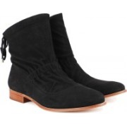 Clarks Alba Evie Black Sde Boots For Women(Black)