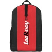 LeeRooy MN-LeeRooy Canvas 18 Ltr Black & Red School Bag Backpack For Unisex 18 L Backpack(Red, Black)