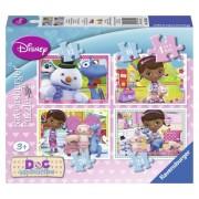 Puzzle Doctorita Plusica, 4buc/cutie, 12/16/20/24 piese, RAVENSBURGER Puzzle Copii