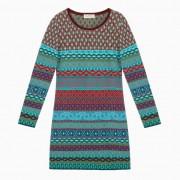 Jacquard jurk, bes-motief 36