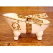 Jabonera de cerámica letra O