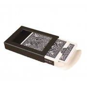 Vanish Disappearing Vanishing Deck Card Case Close Up Magic Trick Box Magic Poker Case, Fun Poker Vanishing Cases Deck Disappearing Vanishing Magics Card Case Close Up Amazing Magic Trick Box (blue)