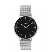 CLUSE Horloges La Boheme Mesh Silver Black Zilverkleurig