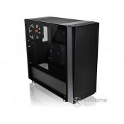 Carcasa PC ATX fara sursa Thermaltake Versa J21 Tempered Glass Edition, negru