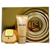 Paco Rabanne Lady Million Women Gift Set (Eau De Parfum Spray Sensual Body Lotion)