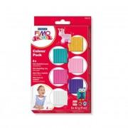 Gyurma készlet, 6x42 g, égethető, lányoknak, FIMO Kids Color Pack, 6 különböző szín