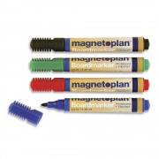 magnetoplan Board- und Flipchartmarker, sortiert je 6 x blau, rot, grün, schwarz VE 24 Stk