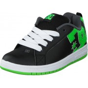 DC Shoes Dc Kids Court Graffik Shoe Blk/Grs, Skor, Sneakers & Sportskor, Sneakers, Svart, Barn, 28