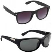 jaknap Wayfarer, Sports Sunglasses(Black, Green)