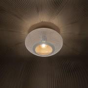 QAZQA Oosterse plafondlamp 25cm wit met koper - Radiance