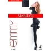 Strumpbyxor med förföriskt prickmönster Emmy från Marilyn, 60 DEN nero-grey 1/2