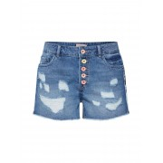 ONLY Jeans 'onlPACY HW DESTROY BUTTON SHORTS DNM'