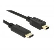 Delock USB 2.0 Type-C naar USB 2.0 Mini B Kabel 2 Meter - Zw