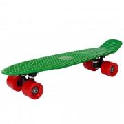 [pro.tec]® Monopatín retro - Skateboard / Mini Cruiser - verde - rojo - (57cm)