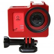 Universal Estuche Protector Con 40.5mm Aleacion De Aluminio Diametro De Lente Y Tapa Protectora De Lente Sjcam Sj5000 Y Sj5000x Y Deporte Sj5000 WiFi Camara De Accion (rojo)