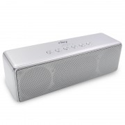 NBY 5510 Portable Dual 5W Drivers Supper Bass 3D Stereo Music Wireless Bluetooth Speaker - Silver