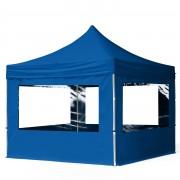 Intent24.fr Tente pliante 3x3m PES 300 g/m² bleu imperméable barnum pliant, tonnelle pliante
