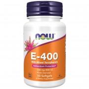 Now Foods Vitamín E Přírodní (směs tokoferolů) 400 iu 50 kapslí - 50 kapslí