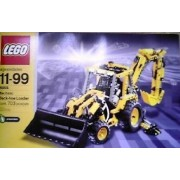 Lego (Lego) # 8455 Technic (Technique) Pneumatic Back-hoe loader 703 pieces - made in 2003 Block toy (parallel import)