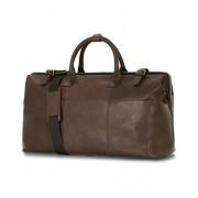 Oscar Jacobson Leather Weekendbag Dark Brown