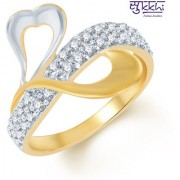 Sukkhi Fine Design Gold and Rhodium Plated CZ Ring (213R500)