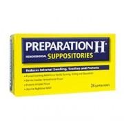 PREPARATION H HEMORRHOIDAL SUPPOSITORIES 24 Suppositories