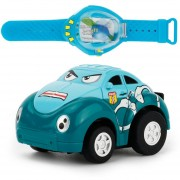 Niños Regalo Power Sensing Watch Cartoon Mini Coche De Juguete De Control Remoto (verde)