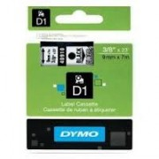 Dymo D1 Label Cassette 9mm x7m (SD40910) - Black on Transparant