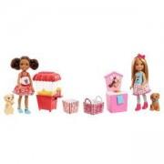 Кукла Barbie - Игрален комплект с Челси, животно и аксесоари, налични 2 модела, 1710069
