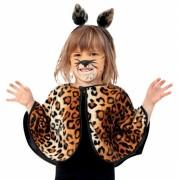 Pluche luipaard poncho voor peuters