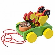 Shy Shy Chicken Pull Line Car Babies Early Walking Toys