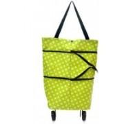 Vaidehi Super Store Lightweight Shopping Trolley Wheel Folding Travel Luggage Bag(Multicolor)