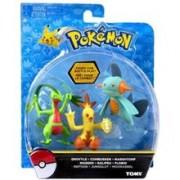 Set Figurine Pokemon Action Pose Figure 3 Pack Combusken Marshtomp & Grovyle