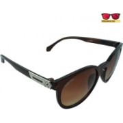 Polo House USA Oval Sunglasses(Brown)