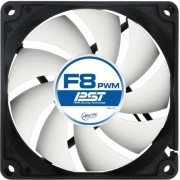 """FAN FOR CASE ARCTIC """"F8 PWM PST"""" 80x80x25 mm, w/ PWM & cablu PST, low noise FD bearing (AFACO-080P0-GBA01)"""