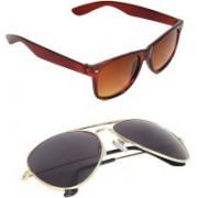 Epic Ink Aviator, Wayfarer Sunglasses(Violet, Brown)