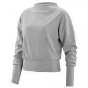 Skins Activewear Women's Wireless Sport Crew Neck Fleece - Silver/Marle - XS - Silver/Marle