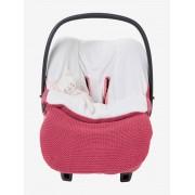 VERTBAUDET Capa para carrinho de bebé em tricot, forro polar rosa escuro liso