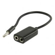 Koptelefoon verdeler kabel zwart
