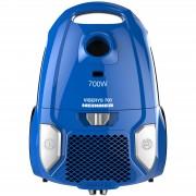 Aspirator cu sac Heinner HVC-MBL1400-V2, 700 W, sac textil, 3 L, putere variabila, HEPA 12, tub telescopic metalic, Albastru